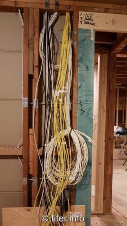 Kilometers of wiring.