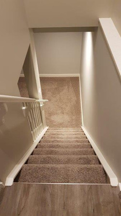 Interior stairs AFTER.