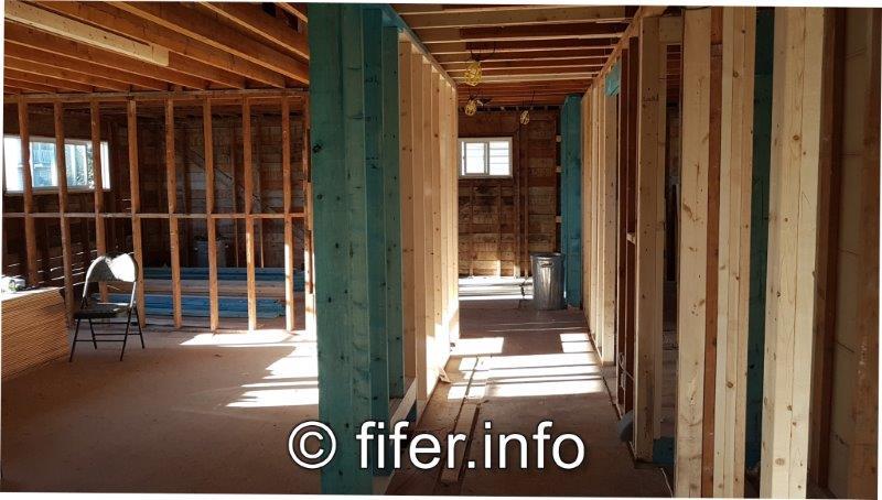 """4"""" hallway. 36"""" wide doors."""