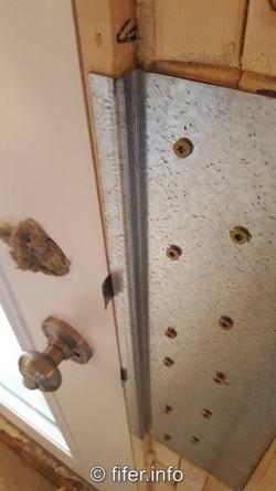 CUSTOM door jamb latch plates.