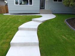NEW: walkways and patio.