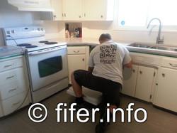 Refurbishing an existing kitchen.