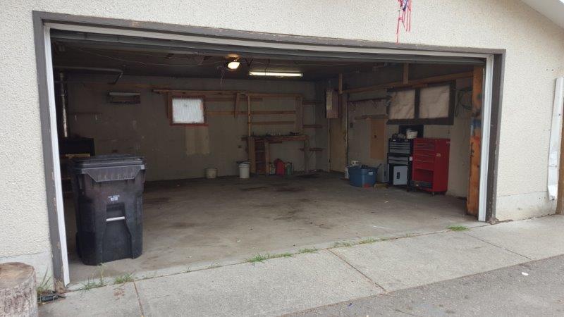 Garage interior BEFORE.