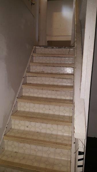Interior stairs BEFORE.