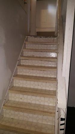 Interior stairs BEFORE.