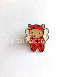 Ladybug Cat Pin