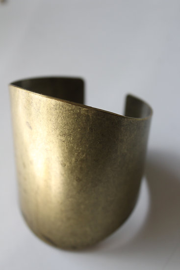 Solid brass cuff