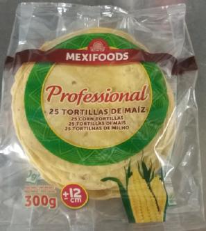 TORTILLA MAIZ 12CM 25 UND