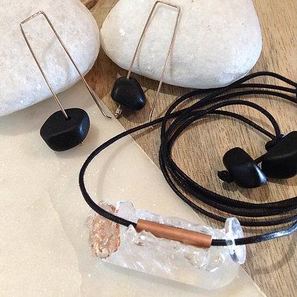 Copper & Clear Quartz Necklace SOLD OUT
