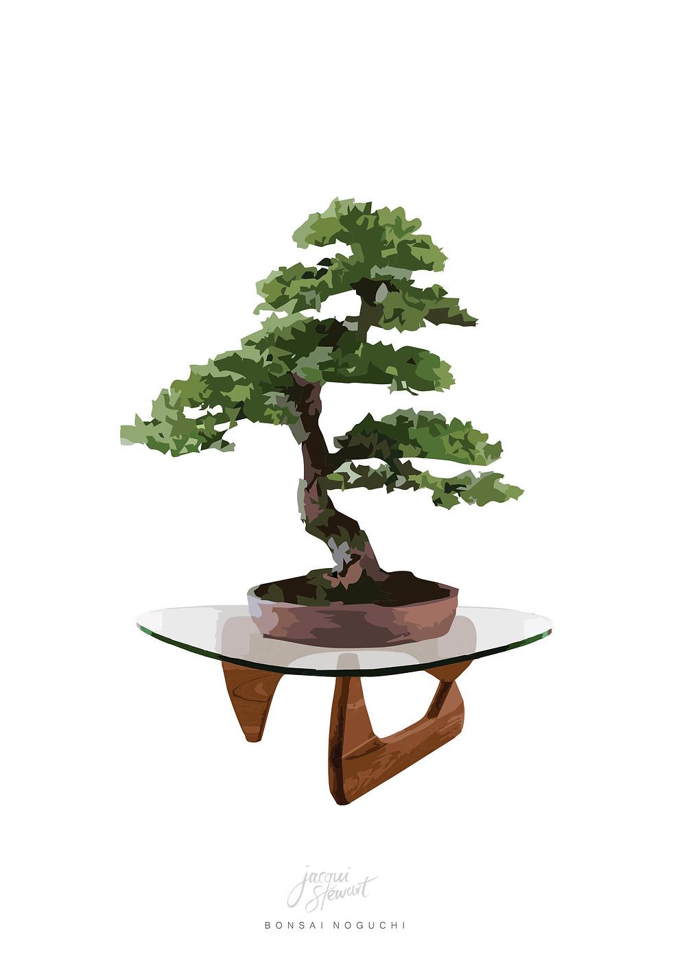 Bonsai Noguchi Art Print by Jacqui Stewart