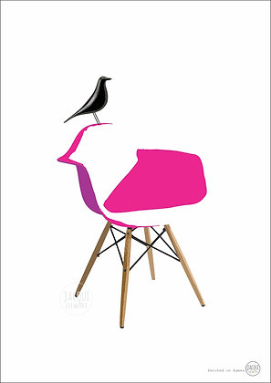 Perched on Eames (pink)