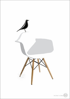 Perched on Eames (white)