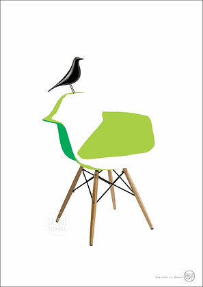 Perched on Eames (green)