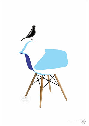 Perched on Eames (blue)