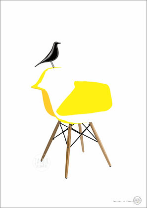 Perched on Eames (yellow)