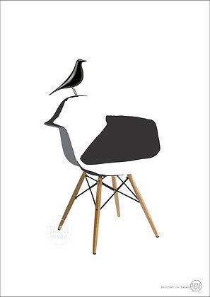 Perched on Eames (black)