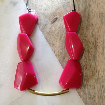Picasso Resin & Brass Necklace SOLD OUT