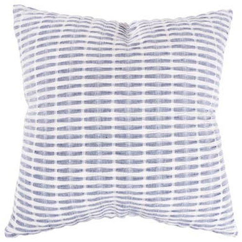 "20"" x 20"" - Pleated Please Throw Pillow - Navy - Feather Fill"