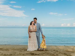Sonja + Samuel's Anaeho`omalu Beach Elopement #waikoloabeachwedding