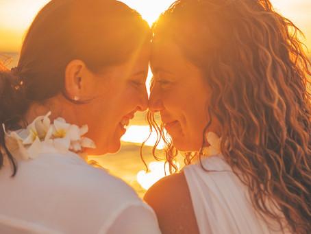 Michelle & Kara's Gorgeous Kukio Beach Wedding