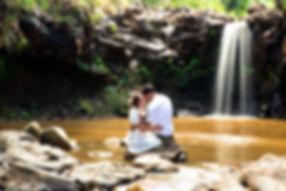 Hawaii Waterfall Elopement Big Island Adventure Elopements Kona Wedding Officiant
