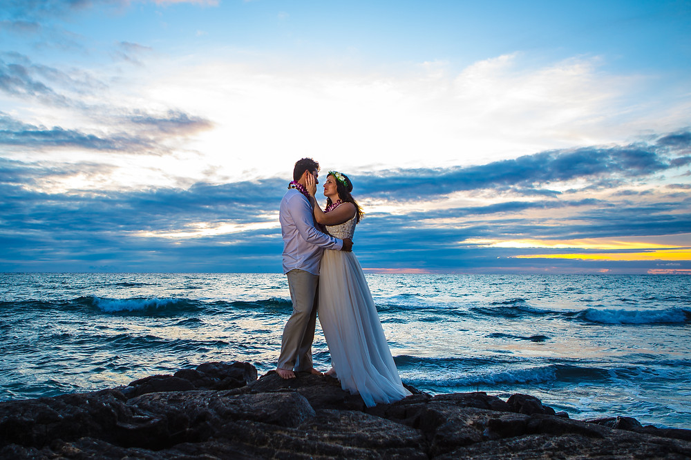 Sunset Wedding Kukio Beach Kona Wedding Officiant Kailua Kona Hawaii