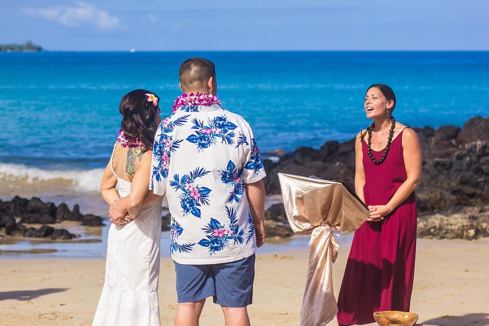 Kona Wedding Officiant Hapuna Beach Elopement Wedding