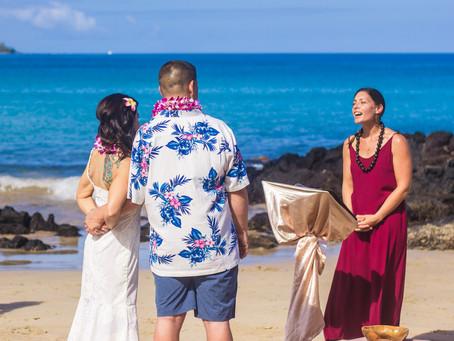 A Hapuna Beach Big Island Elopement Wedding