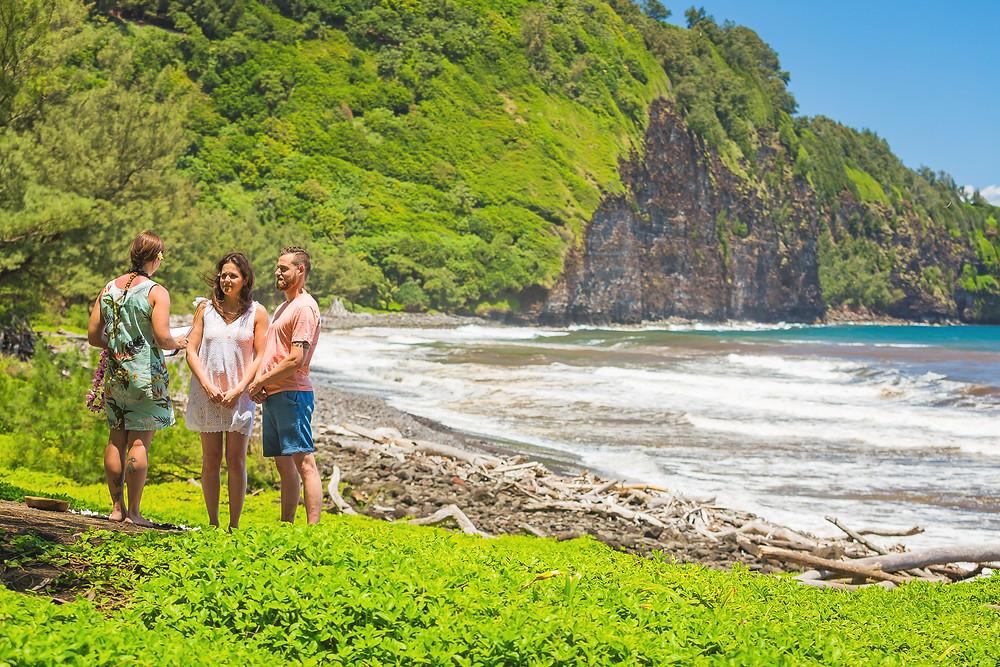 Pololu Valley, Big Island Hawaii, Kona Wedding Officiant Recommended Beach Wedding Location