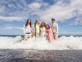 Sharyl + Chris's Black Sand Beach Wedding at Kiholo Bay #blacksandbeachhawaii