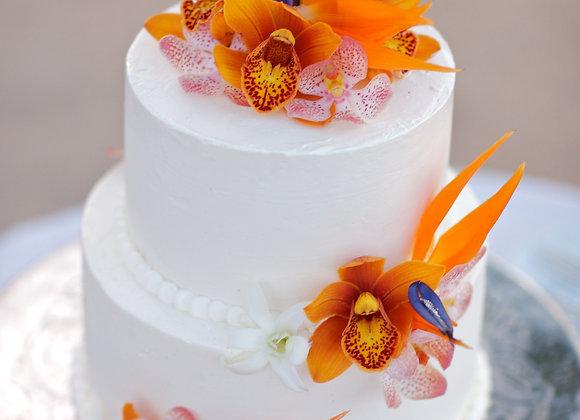 "Two Tier Round 4"" / 6"" Wedding Cake (10-14)"