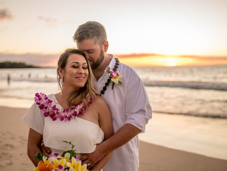 Lily & Nick's Sunset Wedding At Hapuna Beach