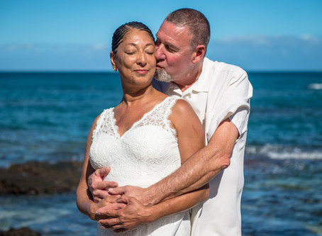 Tracy and Jerry's Anaeho`omalu Beach Wedding