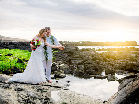 Sharon + Michael's Kikaua Point Elopement #elopementbigisland