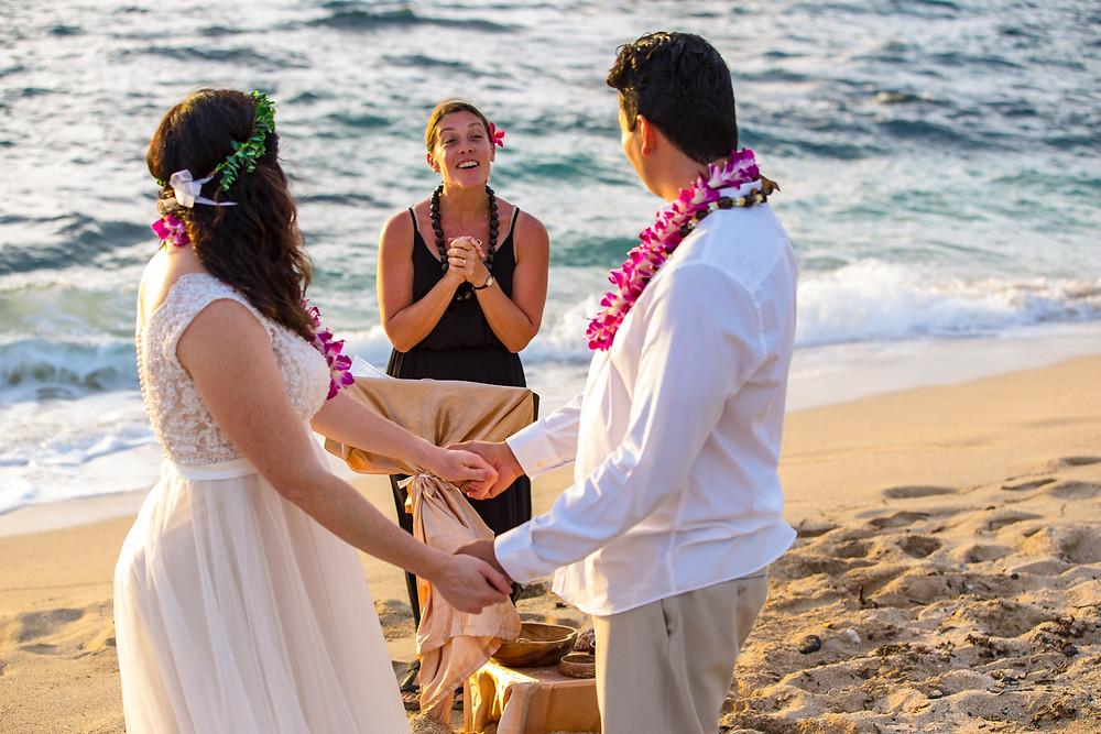 Kona Wedding Officiant Big Island Elopements Kukio Beach Wedding