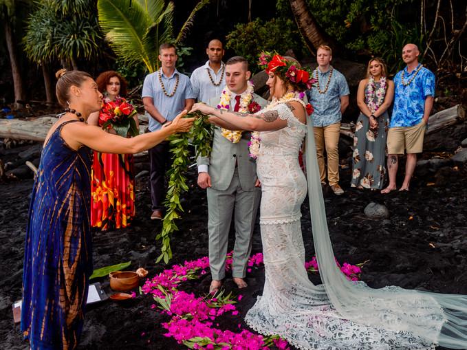 Kehena Black Sand Beach Wedding Elopemen