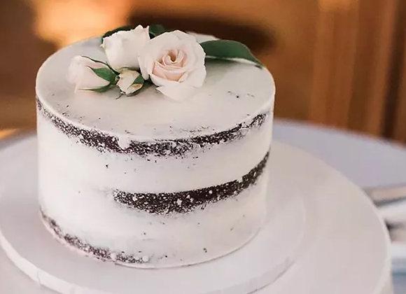 """Single Tier Round 8"""" Wedding Cake (16-20)"""