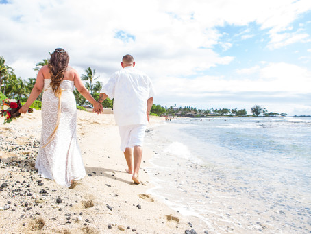 Toni and Jesse's Full Of Love Kukio Beach Family Wedding