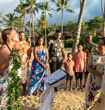 Kona Wedding Officiant Hawaiian Wedding