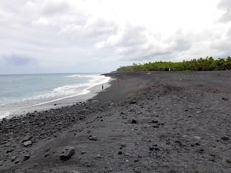 Hawaii's Newest Beach - Pohoiki Black Sand Beach