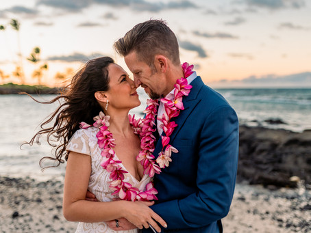 Heather + Nate's Coconut Grove Elopement #fairmontorchidhawaii