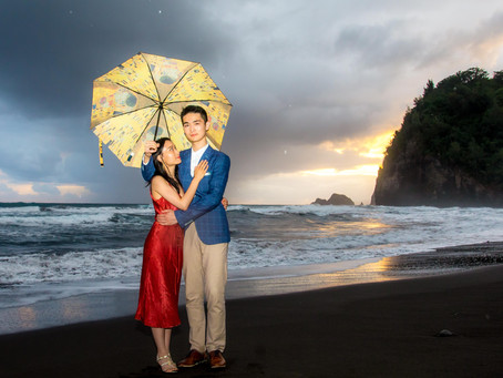 Lingwei & Jia's Pololu Valley Sunrise Elopement