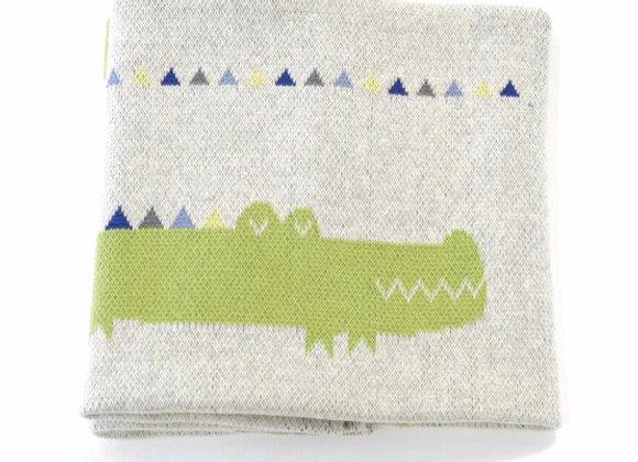 Crocodile baby blanket