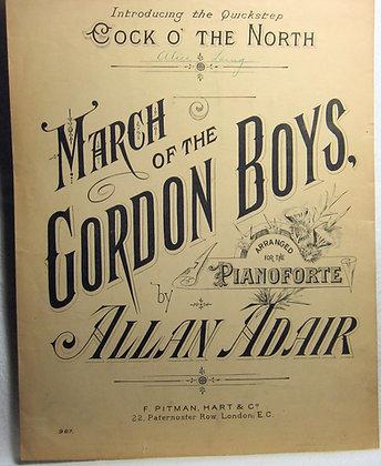 MARCH OF THE GORDON BOYS 1897