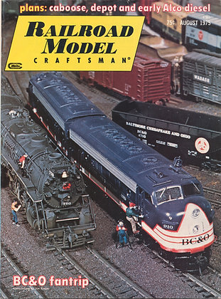 Railroad Model Craftsman, August 1975