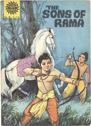 THE SONS OF RAMA No. 18 (AMAR/CHITRA/KATHA) Indian Comic