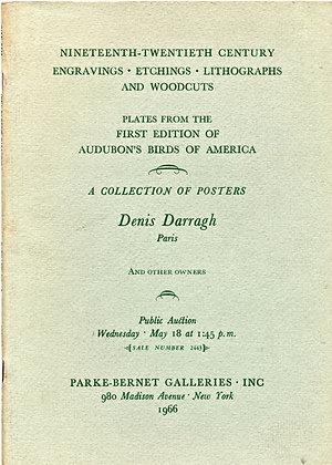 Nineteenth Twentieth Century Engrav, Etch., Litho, & Woodcuts (Audubon's Birds)