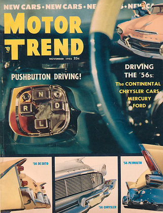 MOTOR TREND (Nov. 1955) Volume 7, No. 11