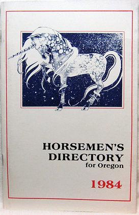 HORSEMEN'S DIRECTORY for Oregon 1984