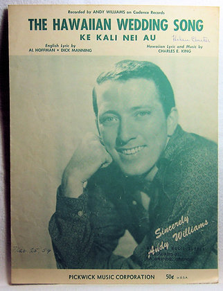 HAWAIIAN WEDDING SONG (Ke Kali Nei Au) 1958